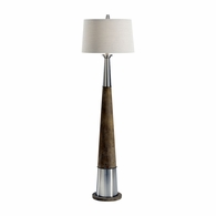 21740 Wildwood Lamps Bob Timberlake Metal/Concrete Brushed Nickel/Natural Gray Firehorn Floor Lamp