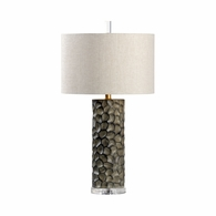21757 Wildwood Lamps Bob Timberlake Ceramic Gray Glaze Gator Lamp - Gray