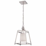 2240-PN Crystorama Libby Langdon for Crystorama Sylvan 1 Light Polished Nickel Pendant