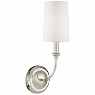 2241-PN Crystorama Libby Langdon for Crystorama Sylvan 1 Light Polished Nickel Sconce