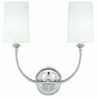 2242-PN Crystorama Libby Langdon for Crystorama Sylvan 2 Light Polished Nickel Sconce