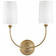 2242-VG Crystorama Libby Langdon for Crystorama Sylvan 2 Light Vibrant Gold Sconce