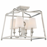 2243-PN Crystorama Libby Langdon for Crystorama Sylvan 4 Light Polished Nickel Ceiling Mount