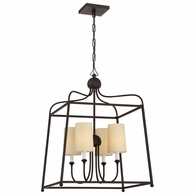 2244-DB Crystorama Libby Langdon for Crystorama Sylvan 4 Light Dark Bronze Chandelier