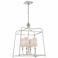 2244-PN Crystorama Libby Langdon for Crystorama Sylvan 4 Light Polished Nickel Chandelier