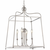 2244-PN-NOSHADE Crystorama Libby Langdon for Crystorama Sylvan 4 Light Polished Nickel Chandelier