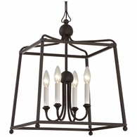 2245-DB-NOSHADE Crystorama Libby Langdon for Crystorama Sylvan 4 Light Dark Bronze Chandelier