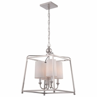 2245-PN Crystorama Libby Langdon for Crystorama Sylvan 4 Light Polished Nickel Chandelier