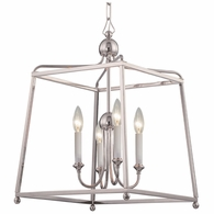 2245-PN-NOSHADE Crystorama Libby Langdon for Crystorama Sylvan 4 Light Polished Nickel Chandelier