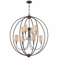 2246-DB Crystorama Libby Langdon for Crystorama Sylvan 8 Light Dark Bronze Chandelier
