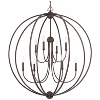 2246-DB-NOSHADE Crystorama Libby Langdon for Crystorama Sylvan 8 Light Dark Bronze Chandelier