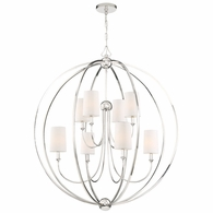 2246-PN Crystorama Libby Langdon for Crystorama Sylvan 8 Light Polished Nickel Chandelier