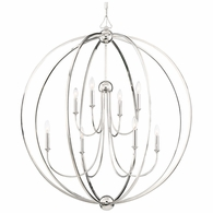 2246-PN-NOSHADE Crystorama Libby Langdon for Crystorama Sylvan 8 Light Polished Nickel Chandelier