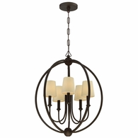 2247-DB Crystorama Libby Langdon for Crystorama Sylvan 5 Light Dark Bronze Chandelier
