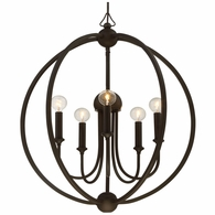 2247-DB-NOSHADE Crystorama Libby Langdon for Crystorama Sylvan 5 Light Dark Bronze Chandelier