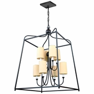 2248-DB Crystorama Libby Langdon for Crystorama Sylvan 8 Light Dark Bronze Chandelier