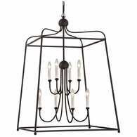 2248-DB-NOSHADE Crystorama Libby Langdon for Crystorama Sylvan 8 Light Dark Bronze Chandelier