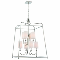 2248-PN Crystorama Libby Langdon for Crystorama Sylvan 8 Light Polished Nickel Chandelier