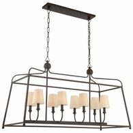 2249-DB Crystorama Libby Langdon for Crystorama Sylvan 8 Light Dark Bronze Chandelier