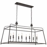 2249-DB-NOSHADE Crystorama Libby Langdon for Crystorama Sylvan 8 Light Dark Bronze Chandelier