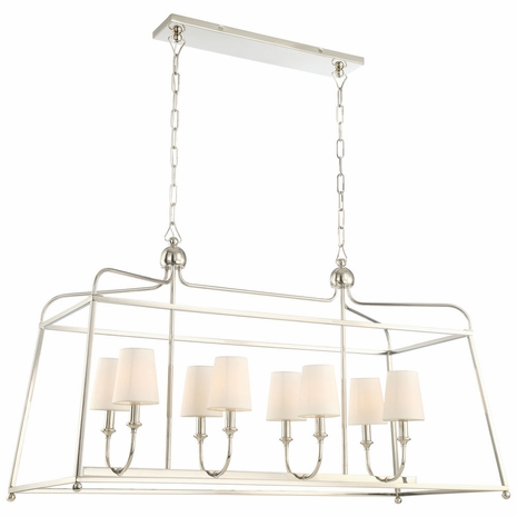 2249-PN Crystorama Libby Langdon for Crystorama Sylvan 8 Light Polished Nickel Chandelier