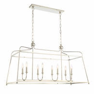 2249-PN-NOSHADE Crystorama Libby Langdon for Crystorama Sylvan 8 Light Polished Nickel Chandelier