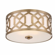 2263-AG Crystorama Libby Langdon for Crystorama Jennings 3 Light Aged Brass Ceiling Mount