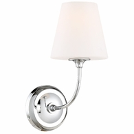 2441-OP-CH Crystorama Libby Langdon Sylvan 1 Light Chrome Wall Mount