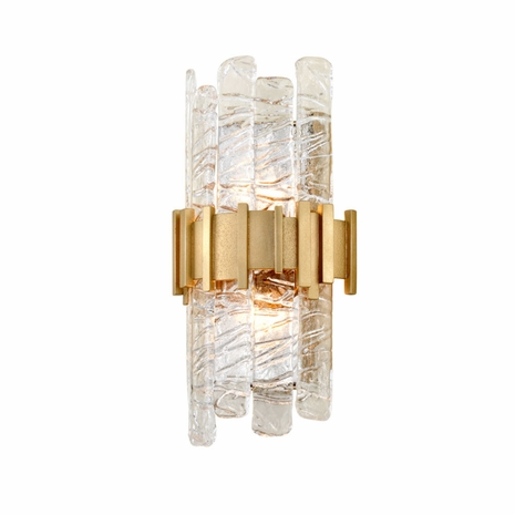 256-12 Corbett Ciro 2Lt Wall Sconce with Antique Silver Leaf Stainless Finish