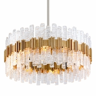 256-410 Corbett Ciro 10Lt Pendant with Antique Silver Leaf Stainless Finish