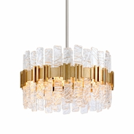 256-45 Corbett Ciro 5Lt Pendant with Antique Silver Leaf Stainless Finish