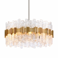 256-48 Corbett Ciro 8Lt Pendant with Antique Silver Leaf Stainless Finish