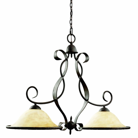 2971OI Kichler High Country 2Lt Chandelier Island Fixture (DISCONTINUED ITEM!)