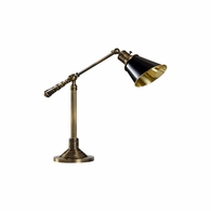 2999 Wildwood Solid Brass Antique Patina Counterweight Desk Lamp