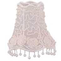"2SH Crystorama Crystorama 5"" Pearl Beaded Shade w/ Dangling Pearls"