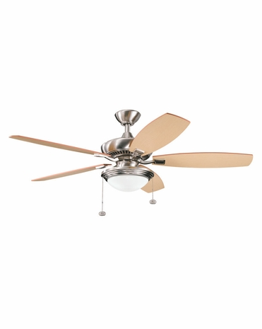 300016BSS Builder Fans Transitional 52 Inch Canfield Select Fan (brushed stainless steel)