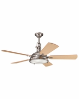 300018BSS Kichler Fans Traditional Brushed Stainless Steel 56 Inch Hatteras Bay Fan