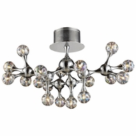 30026/18 ELK Lighting Molecular 18-Light Semi Flush in Polished Chrome with Rainbow Glass
