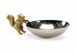 301175 Wildwood Lamps Bob Timberlake Aluminum Nickel/Brass Plated Squirrel Bowl