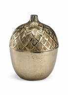 301263 Wildwood Lamps Bob Timberlake Cast Aluminum Antique Champagne Autumn Acorn Caddy