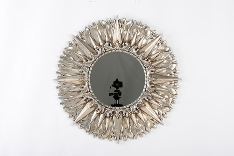301360 Wildwood Lamps Helios Mirror-Antique Silver