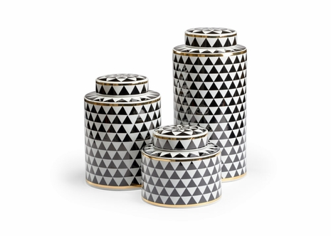 301378 Wildwood Lamps Triad Canisters - Black (S3)