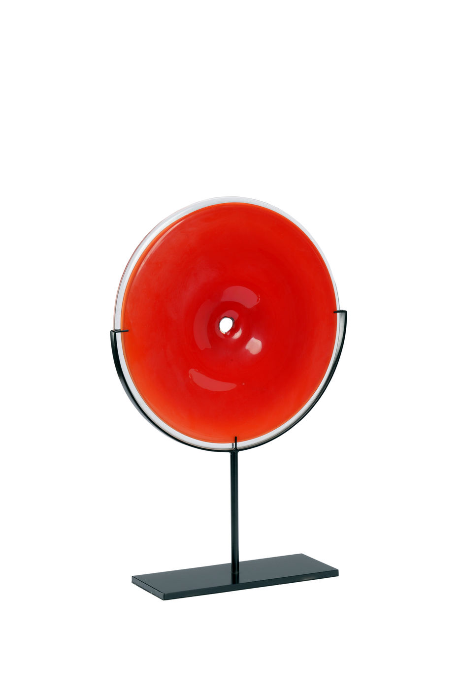 301606 Wildwood Glass Red Lunar Disc - Red