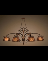 302540ST Fine Art Lamps Villa 1919 30 inch 6 Light Chandelier