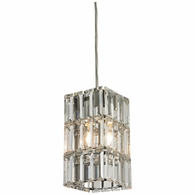31488/1 ELK Lighting Cynthia 1-Light Mini Pendant in Polished Chrome with Crystal