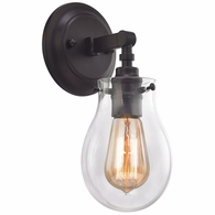 31930/1 ELK Lighting Jaelyn 1-Light Vanity Lamp in Oil Rubbed Bronze with Clear Glass