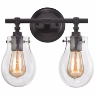 31931/2 ELK Lighting Jaelyn 2-Light Vanity Lamp in Oil Rubbed Bronze with Clear Glass