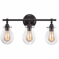 31932/3 ELK Lighting Jaelyn 3-Light Vanity Lamp in Oil Rubbed Bronze with Clear Glass