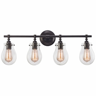 31933/4 ELK Lighting Jaelyn 4-Light Vanity Lamp in Oil Rubbed Bronze with Clear Glass