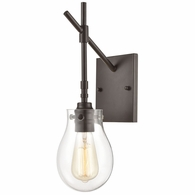 31936/1 ELK Lighting Jaelyn 1-Light Sconce in Oil Rubbed Bronze with Clear Glass